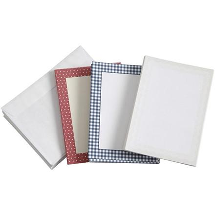 Brevkort med kuverter, 10,5x15 cm, 50 sæt