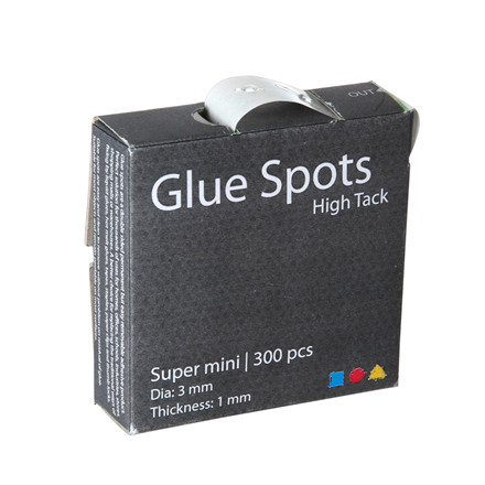 Glue Spots, 3 mm, 4x300 stk.