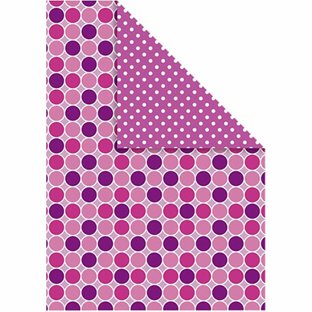 Color Bar, 21x30 cm, pink, cirkler/prikker, 10 ark