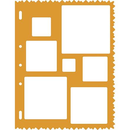 Skæreskabelon, 21x28 cm, kvadrater, 1 stk.