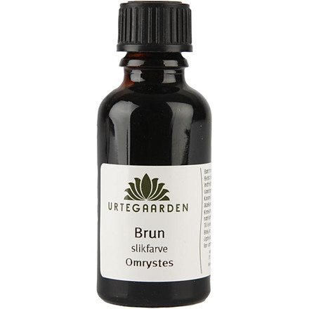 Slikfarve, brun, 30 ml