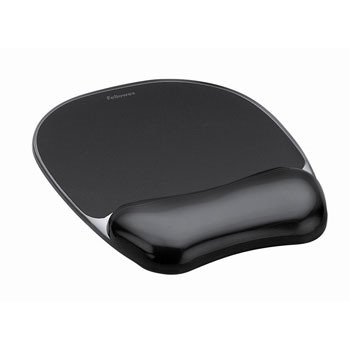 Fellowes Crystal mousepad & wrist rest black
