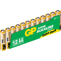 GP Batteries Battery Super Alkaline LR6/AA    1,5V (12)
