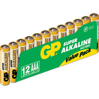 GP Batteries Battery Super Alkaline LR3/AAA   1,5V (12)