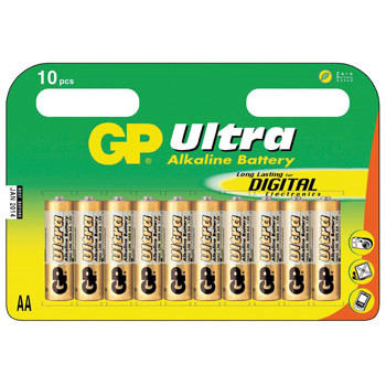GP Batteries Battery Ultra Alkaline LR6/AA    1,5V  (10)