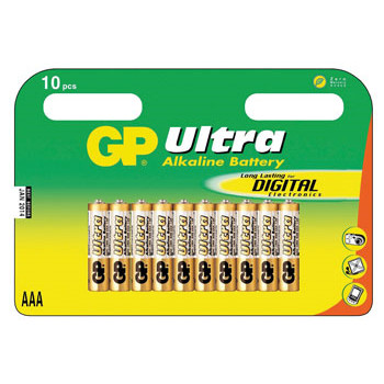 GP Batteries Battery Ultra Alkaline LR3/AAA    1,5V  (10)