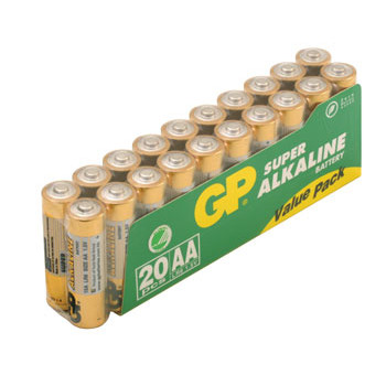 GP Batteries Battery Super Alkaline LR6/AA    1,5V (20)