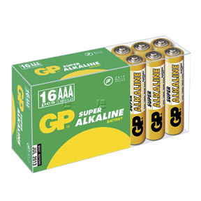 GP Batteries Battery Super Alkaline LR03/AAA  1,5V  (16)
