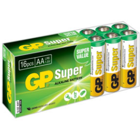 GP Batteries Battery Super Alkaline LR6/AA 1,5V  (16)