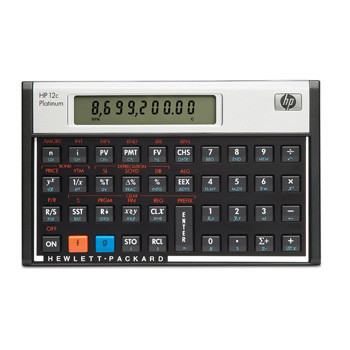HP HP 12CPL financial calculator Platinum (UK manual)
