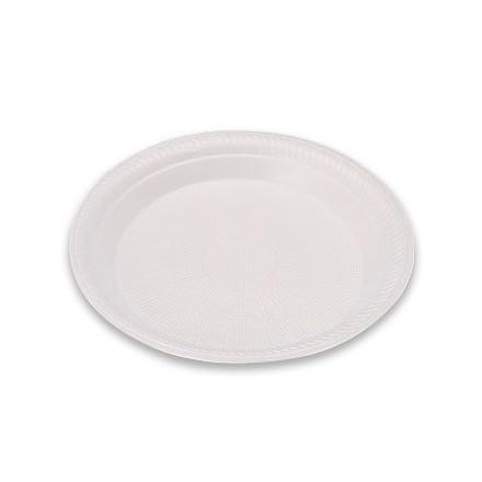 Skumtallerken hvid 1-rums Ø22,5cm 6x100stk/kar