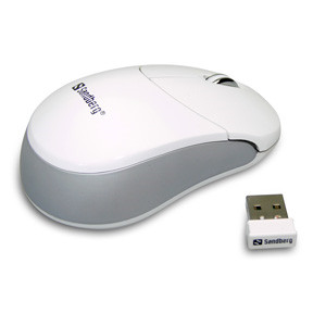 Sandberg Wireless Design Mouse Silver