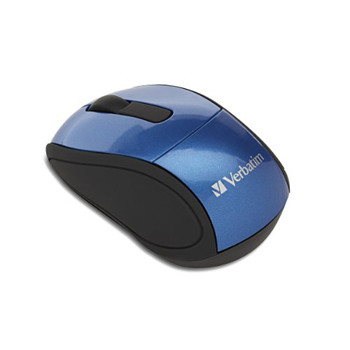 Verbatim Optical Mini Travel Mouse USB Caribbean Blue