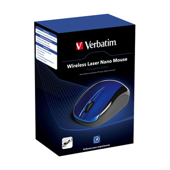 Verbatim Wireless Laser Nano Mouse, Blue