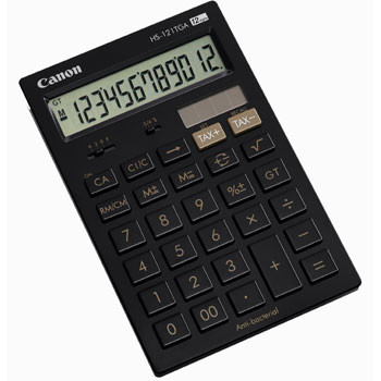 Canon Canon HS-121TGA pocket calculator anti bacterial black