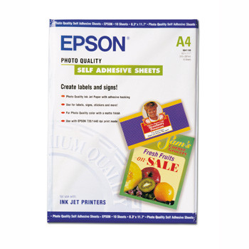 Epson A4 photo self adhesive sheets