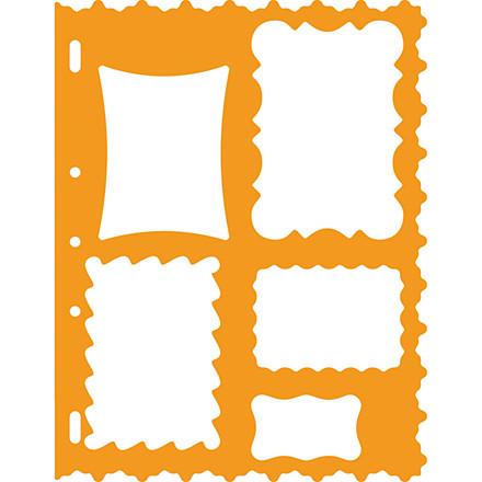 Skæreskabelon, 21x28 cm, rammer, 1 stk.