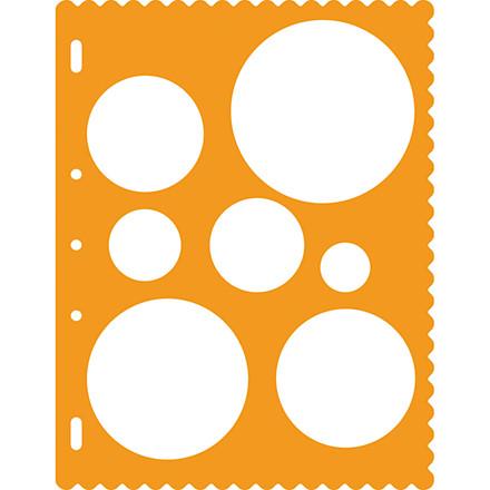 Skæreskabelon, 28+40+53+66+79+91+130 mm, cirkler, 1 stk.
