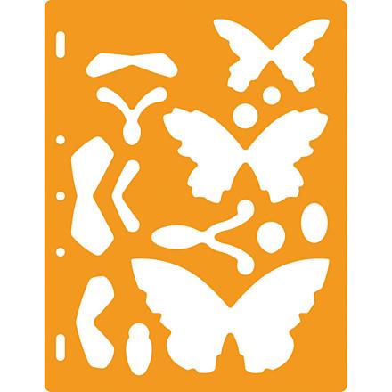 Skæreskabelon, sommerfugle, 1 stk.