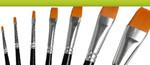 Malerredskaber, lim, lak og kontorartikler