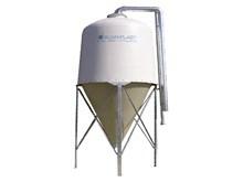 Udendørs silo til træpiller