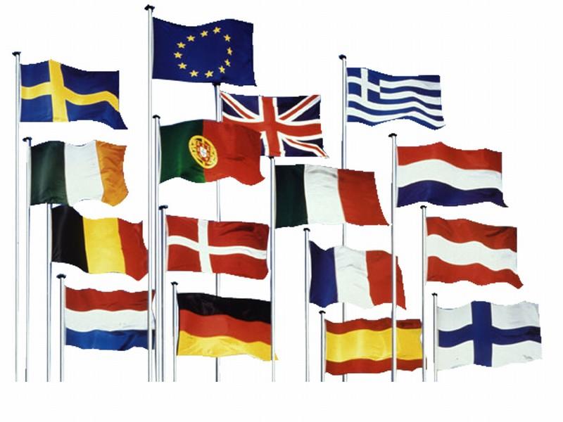 tyske flag og belgiske flag