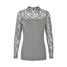 KAFFE LACY TURTLE NECK BLUSE 550712