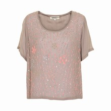KAFFE SASHA SEQUIN TOP 530207