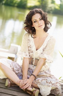 Cream Evie Kjole 61340