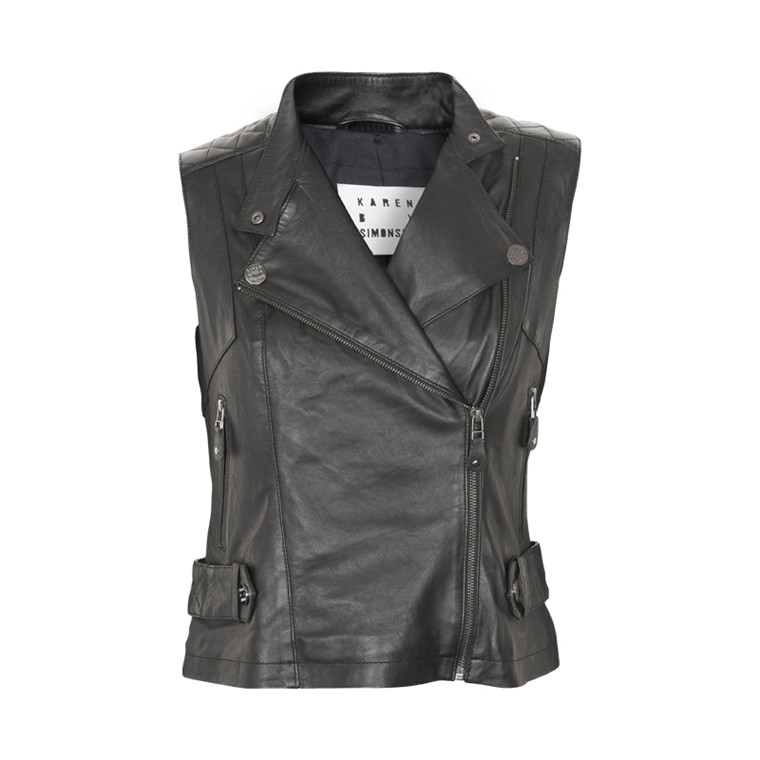 KAREN BY SIMONSEN PIRIER LEATHER VEST 43539
