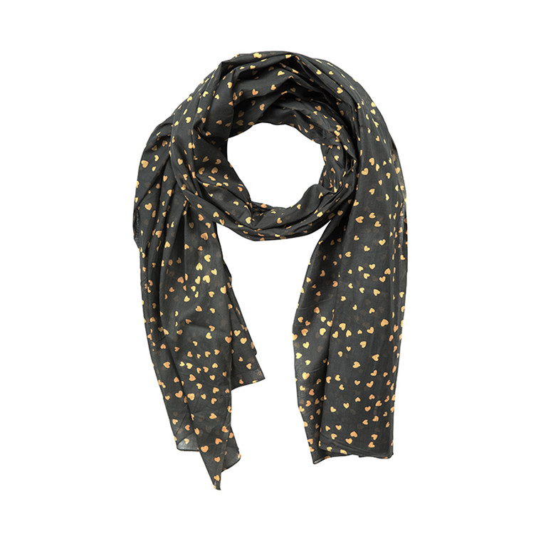 NORR SMALL HEARTS SCARF M