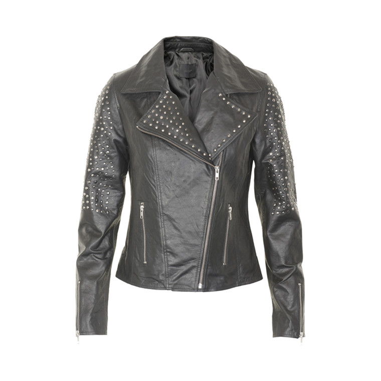 GESTUZ STUD LEATHER JACKET 900212