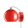 Ball Væglampe - Blank Rød Fra Frandsen