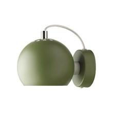 Ball Væglampe - Mørkegrøn Mat Fra Frandsen