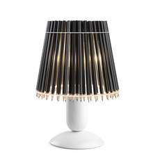 Pencil Lamp Bordlampe hvid stel