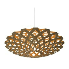 Flax Orange pendel Lampe fra David Trubridge