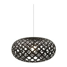 Kina Black pendel Lampe fra David Trubridge