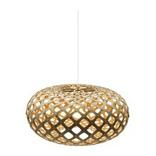Kina Orange pendel Lampe fra David Trubridge