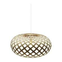 Kina White pendel Lampe fra David Trubridge
