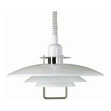 Primus II Pendel Lampe blank hvid med hejs - Belid