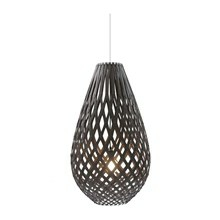 Koura Black pendel Lampe fra David Trubridge
