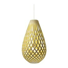 Koura Yellow pendel Lampe fra David Trubridge