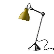 Lampe Gras 205 Bordlampe Krom - Gul fra DCW Éditions