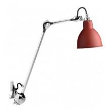 Lampe Gras 222 Væglampe Krom - Rød fra DCW Éditions