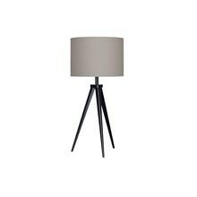 Paso TRI Bordlampe sort med Grå Tekstilskærm - Darø