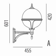 Roulette III Udendørs Væglampe Model A fra Noral
