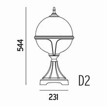 Roulette III Havelampe Model D2 fra Noral