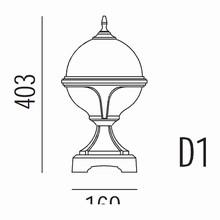 Roulette II Havelampe Model D1 fra Noral