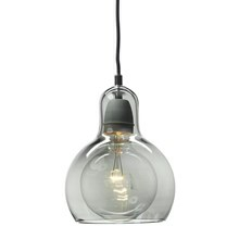 Mega Bulb Silver/Sort Pendel Lampe - &Tradition