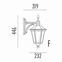 Allegro Udendørs Væglampe Model F fra Noral